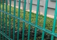 Twin Wire 8 / 6 Double Wire Fence Wrought Iron Style / Green Pvc Coated Wire Mesh Fencing