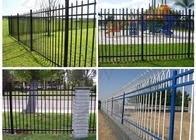 China 1800*2200mm Steel Spear Top Security Fencing Green Pressed Form Free Sample factory