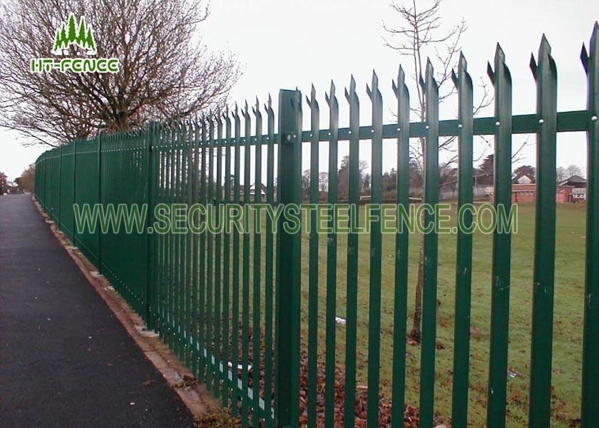1.8m Triple spiked black palisade pales