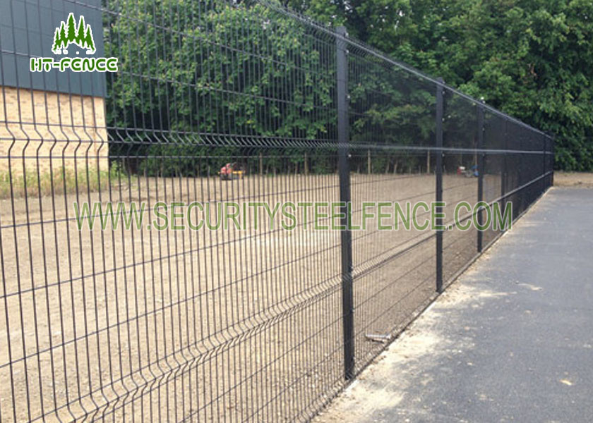 100mm Bend Galvanized Welded Wire Mesh Fence , PVC Coated Welded ...
