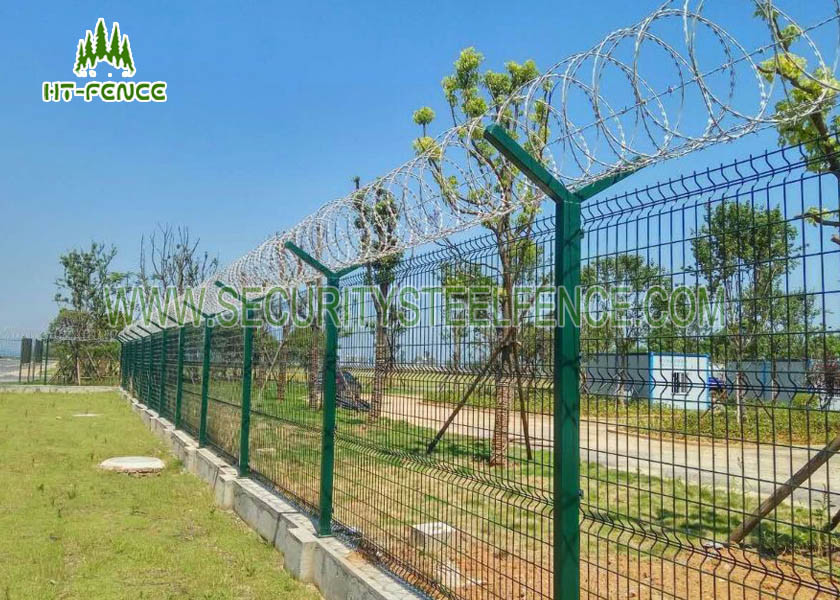Pre Galvanized Welded Wire Fence Weather Proof For Shipping Port ...