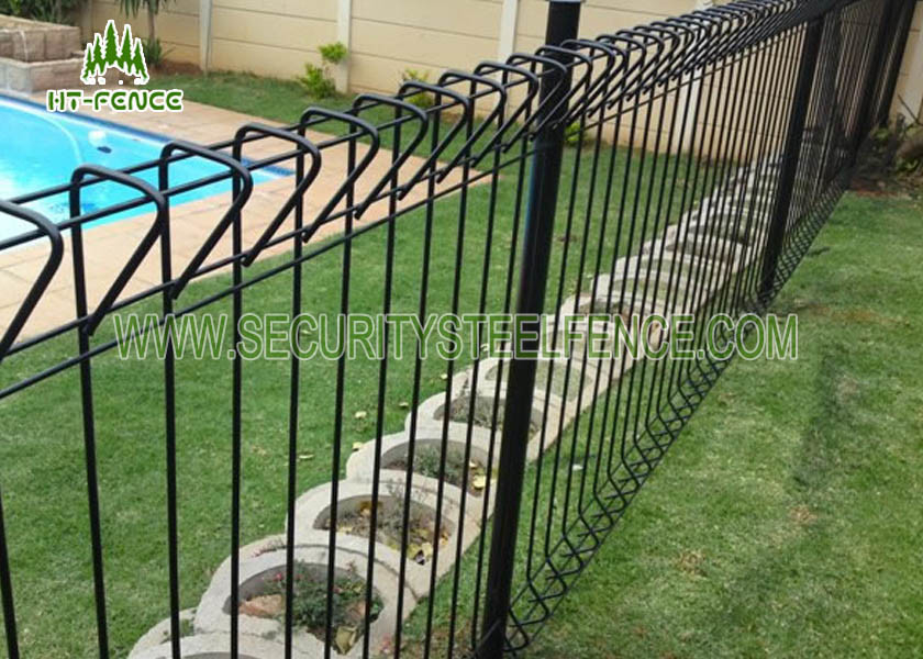 High Strength Arc Roll Top Fencing , Galvanized Welded Wire Fence Panels
