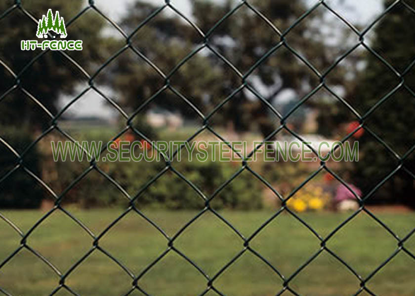Diamond Hole Steel Chain Link Fence 50 × 50mm Heat Resistance For ...