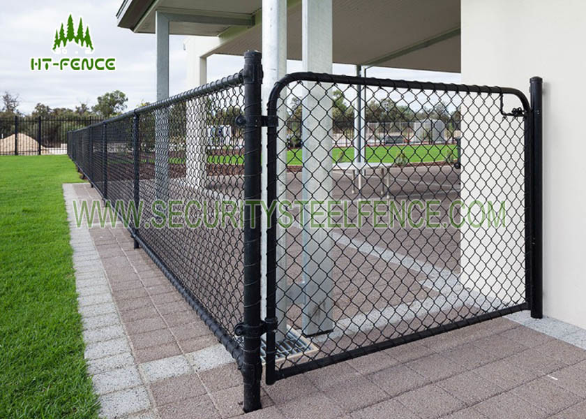 Easy installation steel chain link fence galvanized iron