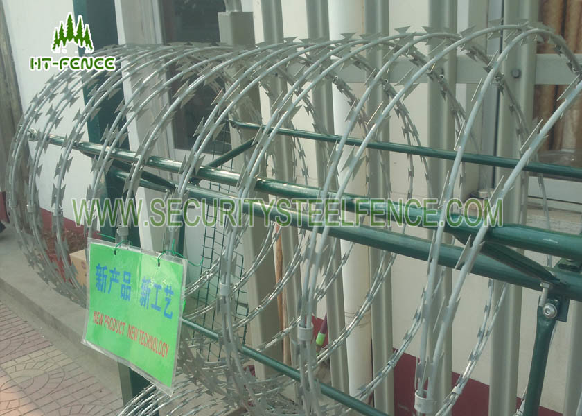 Electrophopresis Painting Security Razor Wire 450mm Diameter For ...