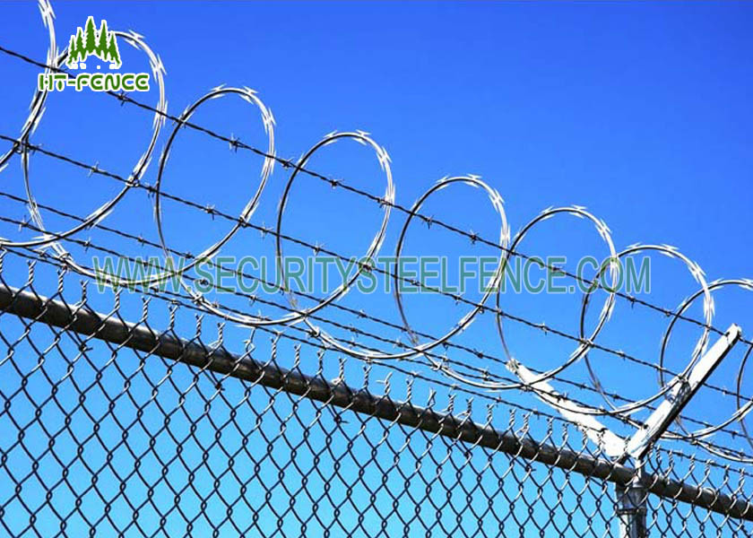 Flat Wrap Concertina Razor Wire Corrosion Resistance For Industrial ...