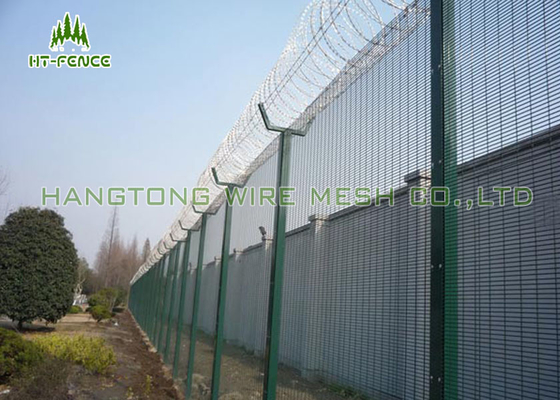 China 358 Security Steel Fence , Rustproof Metal Security Fencing For Power Station factory