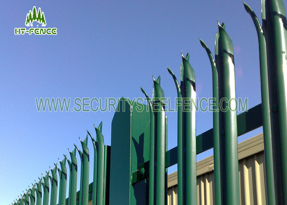 China Commerical Security Metal Palisade Fence Panels , Palisade Security Fencing factory