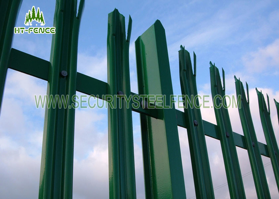 China Hot Dipped Galvanized Metal Palisade Fencing D Section For Telecom Tower factory