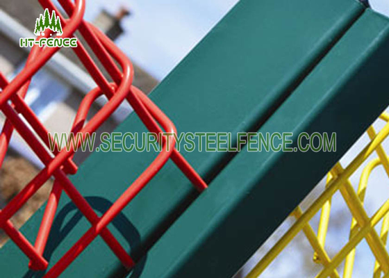 Hot Dipped Galvanised Roll Top Fencing , Powder Coated Steel Wire Mesh Panels