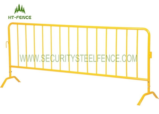 1.1 × 2.5m Per Panel Metal Crowd Control Barriers Easy Assembly With φ32 Frame