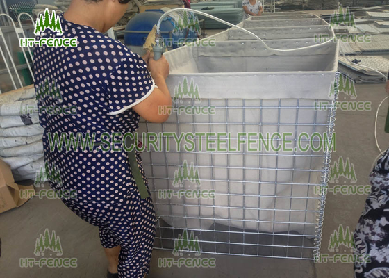China Easy Installation Welded Mesh Gabions / PVC Coated Gabion Box For Military Security factory