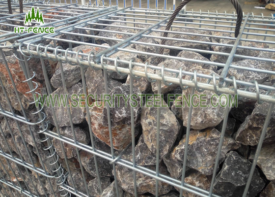 China Easily Construct Welded Gabion Box 1 × 1 × 1m For Flood Protection / Landscaping factory