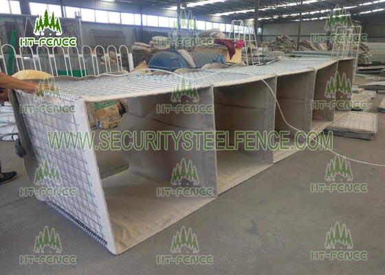 China Hot Dipped Galvanized Welded Gabion Baskets , 0.61 × 0.61 × 3.05m Gabion Wall Baskets factory