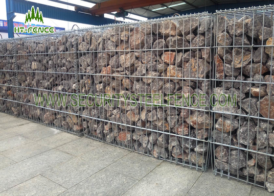 Heavy Duty Welded Decorative Gabion Baskets 5.0mm Wire With 75 × 75mm Hole