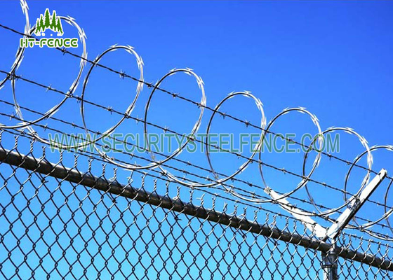 China Flat Wrap Concertina Razor Wire Corrosion Resistance For Industrial Security Fence  factory