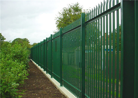 Hot Dip Galvanized Steel Palisade Fencing Panels D Pale 2.4m High