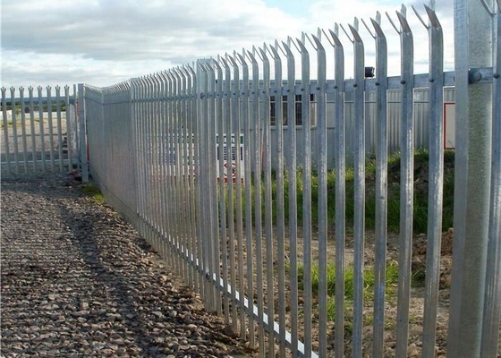 Anti - Climb Steel Palisade Fencing With Multi - Directional Triple Spiked Top