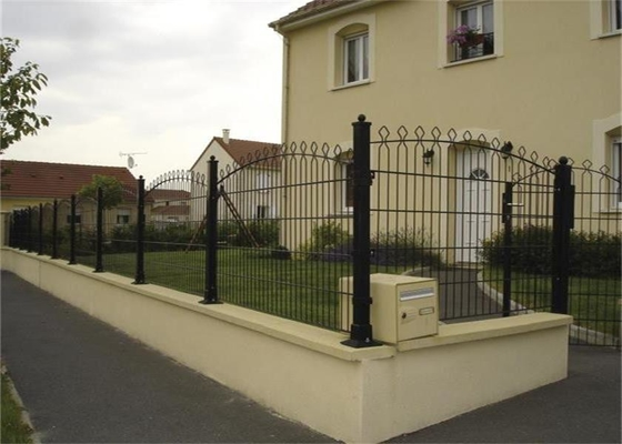 Outdoor PVC Coated 3D Wire Mesh Fence / Welded Garden Fence Panels