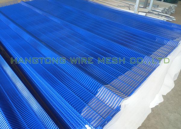 Anti Climb Clearvu Steel Wire Mesh Panels 75 × 12.5mm Hole For Oil Field