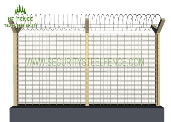 Anti- UV 358 Security Fence / Green Security Fencing With High Tensile Strength