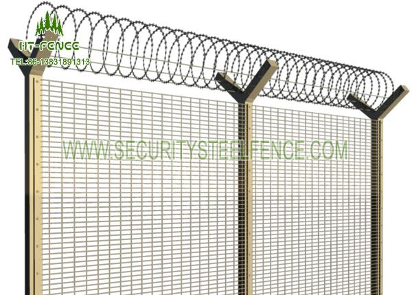 Bridge 358 Anti Climb Fence / Welded Wire Mesh Fence Panels With ...