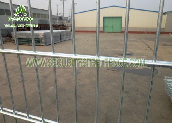 Black Double Wire Fence / Ornamental Twin Wire Mesh Fencing For Sports Field