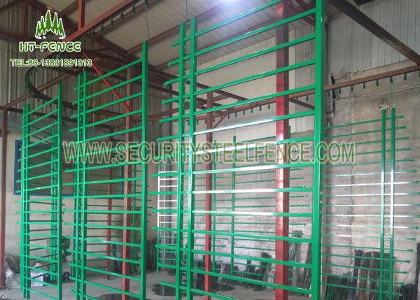 1.8 × 2.4m Spear Top Fencing / Welded Wire Mesh Panels For Diplomat Garrison