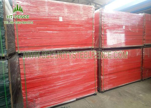 Square Tube Frame Temporary Fence Panels , Construction Temporary Fencing