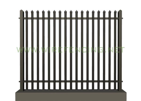 Powder Coated Galvanized Iron Spearhead Ornamental Decorative Palisade Fence