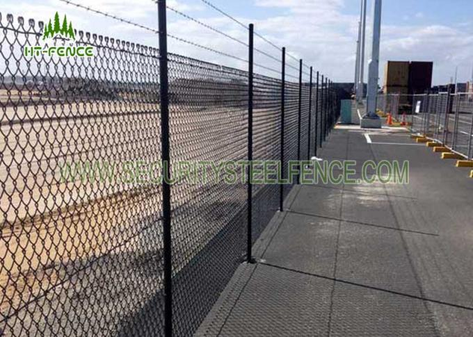 3mm -4mm PVC Coated Galvanized Steel Chain Link Fence with Diamond Hole 6FT Height