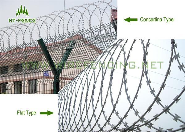 Security Fencing Galvanized Razor Barbed Wire For Garden And Apartment