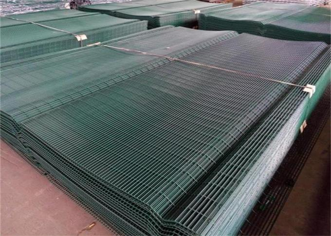 Industrial Anti Climb Prison Fence Hot Dipped Galvanized Steel Material