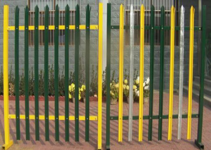 Powder Coated Galvanized Iron Spearhead Steel Palisade Fencing / Ornamental Decorative Garden fence