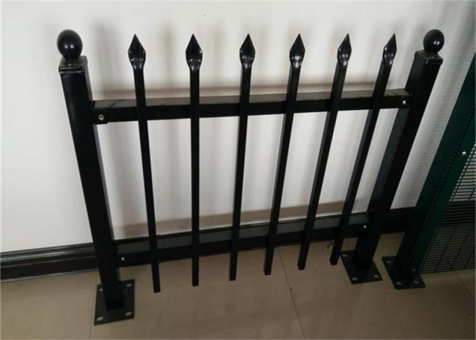 High - Density Safety Steel Palisade Fencing / Aluminum Garden Temporary Picket Fence